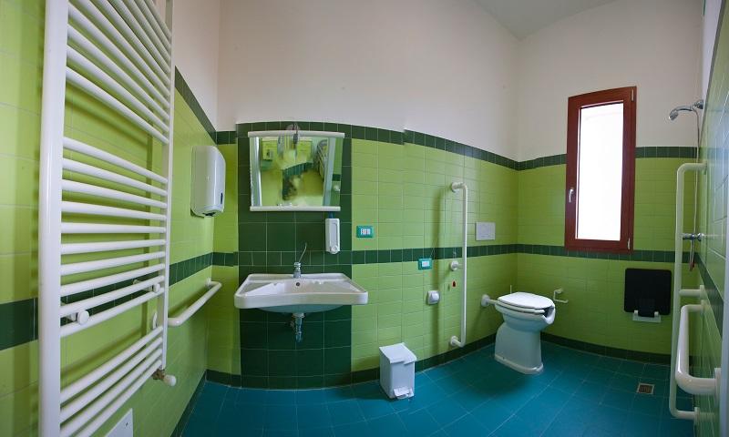 bagno camera verde